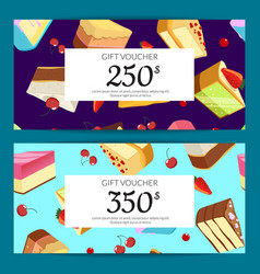 gift cards discounts or vouchers vector image vector image