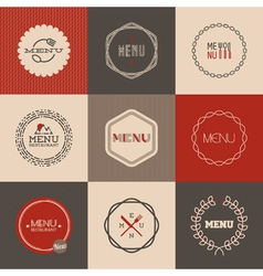 Labels set for restaurant menu design vector image vector image