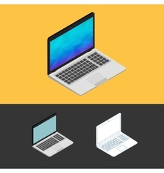 Laptop isometric icon vector image