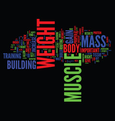 Learn to gain weight and build muscle text vector