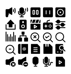 Multimedia Icons 9 vector image