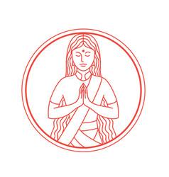 Namaste icon vector