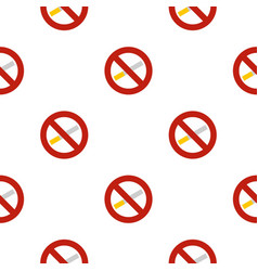No smoking pattern flat vector
