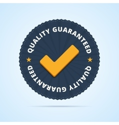 Quality guaranteed - tested badge vector image vector image
