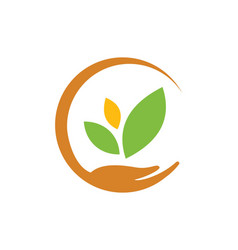Save ecology bio nature logo vector