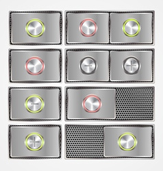 Set of onoff switch buttons vector