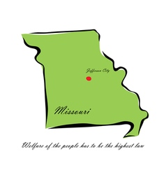 State of missouri vector