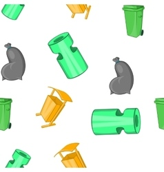 Trash pattern cartoon style vector image vector image
