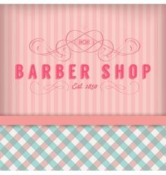 Vintage Barber Shop Badg vector image