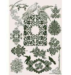 vintage royal design vector image vector image