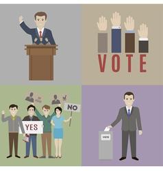 Vote vector image vector image