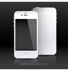 White smartphone mock up vector