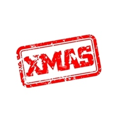 Xmas rubber stamp vector image