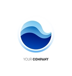 Abstract water drop logo vector