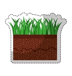 Ground and grass icon vector