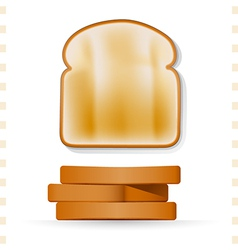 Toast icons top and side view vector