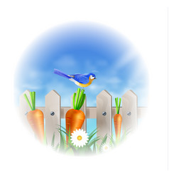 bird of spring vector image