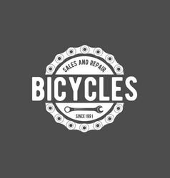 bicycle retro badge vector image