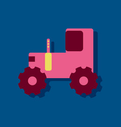 Flat icon design collection children tractor vector