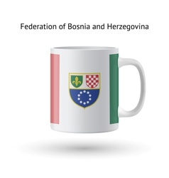 Federation of bosnia and herzegovina flag souvenir vector