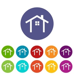 Home flat icon vector