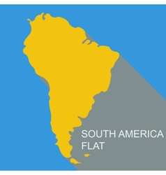South america flat vector