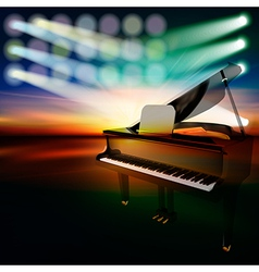 Abstract dark jazz background with grand piano on vector