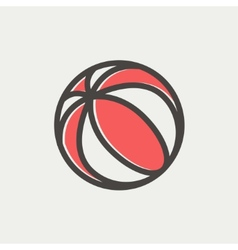 Beach ball thin line icon vector image