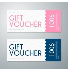Gift voucher template vector