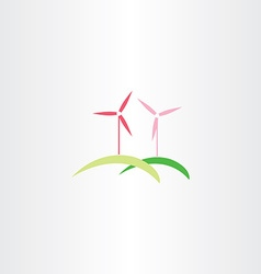 Wind turbine icon logo vector