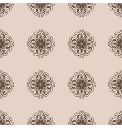 Seamless damask wallpapern vector