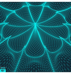 3d perspective grid background technology style vector