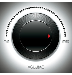 Big black volume knob vector