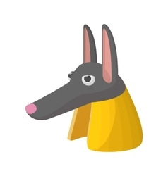 Anubis head icon cartoon style vector image vector image