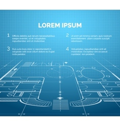 Architectural blueprint background vector image vector image