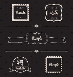 Blackboard frames and design elements vector image vector image
