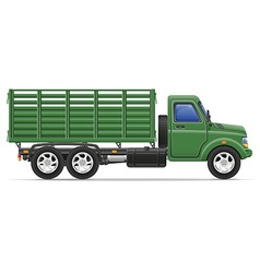 cargo truck 14 vector image vector image
