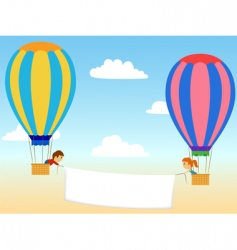 cartoon aerostat vector image