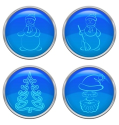 Christmas buttons set vector image vector image