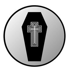 Coffin button vector