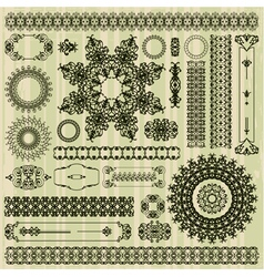 collection of abstract floral pattern vector image