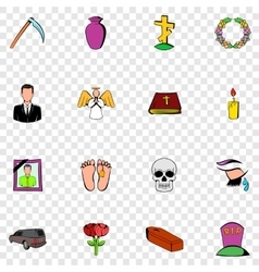 Death set icons vector