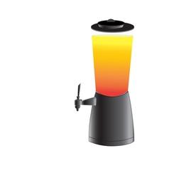Draft beer tower tap vector