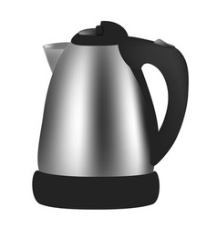 Electric kettle on white background vector