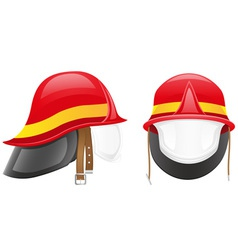 firefighter helmet vector image