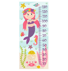 growth measure with mermaid vector image vector image
