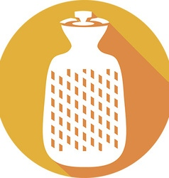 Hot Water Bottle Icon vector image vector image