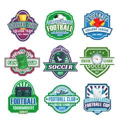 Icons for soccer club football league team vector