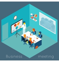 Isometric 3d business meeting vector image vector image