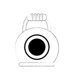 Kettlebell weight isolated vector
